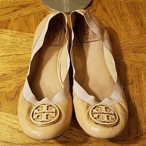 Tory Burch ballet flats patent leather.  Size 9